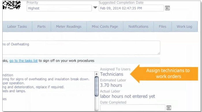 assign technician to work order fast